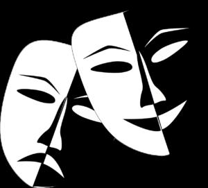 To masker, den ene er glad den andre er trist