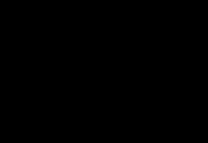 Profil av mann som løper med handlevogn