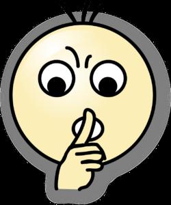 Emoji som viser shh tegn